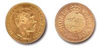 Karl XV guldmynt. Carolin.