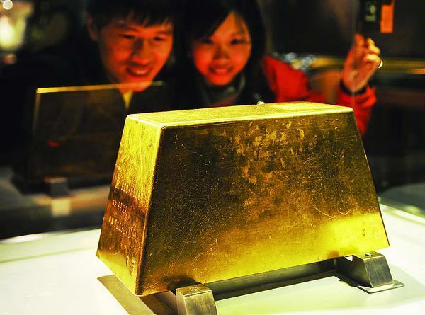 Världens näst största guldtacka från Taiwan. 220kg.